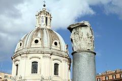 Старый форум Trajan в Риме Стоковое Изображение