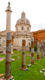 Старый форум Trajan в Риме стоковые изображения rf