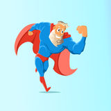 Старый харизматический супергерой битника иллюстрация 3 градиентов действия a4 дополнительная также не включила никакие версии су Стоковое фото RF