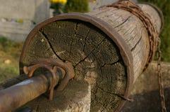 Старый хорошо, ведро и строка Стоковая Фотография