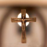 Старый христианский крест алтара Стоковая Фотография RF