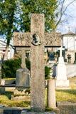 Старый христианский крест Стоковое Изображение