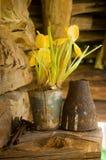 Старый цветочный горшок стоковые фотографии rf