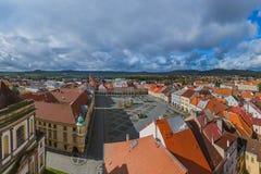 Старый центр в городке Jicin - чехии стоковое изображение