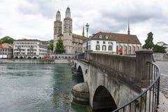 Старый центр города Цюриха на Швейцарии Стоковые Изображения