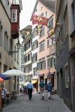 Старый центр города Цюриха на Швейцарии Стоковая Фотография