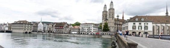 Старый центр города Цюриха на Швейцарии Стоковые Фото