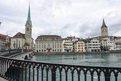 Старый центр города Цюриха на Швейцарии Стоковая Фотография RF