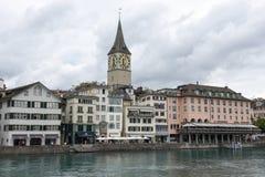 Старый центр города Цюриха на Швейцарии Стоковое фото RF