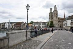 Старый центр города Цюриха на Швейцарии Стоковое Изображение RF