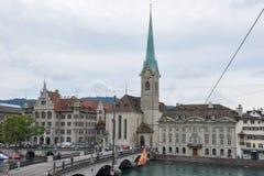 Старый центр города Цюриха Стоковая Фотография