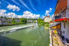 Старый центр города города Bremgarten в Швейцарии Стоковое Изображение