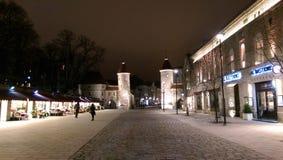 Старый центр города Таллина - Эстонии стоковая фотография