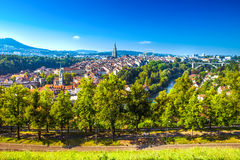 Старый центр города Bern, столица Швейцарии, Европы Стоковое Изображение RF