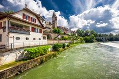 Старый центр города Bremgarten Швейцария Стоковая Фотография RF