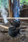 Старый чайник Стоковая Фотография