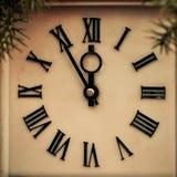 Старый часы показывая 12 часа Стоковое Изображение