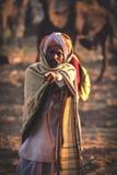 Старый человек Rajasthani с тюрбаном Фестиваль-Pushkar Стоковое Изображение
