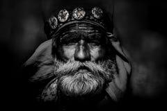 Старый человек Rajasthani Фестиваль-Pushkar Стоковые Фотографии RF