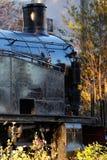 Старый черный локомотив пара Стоковые Изображения