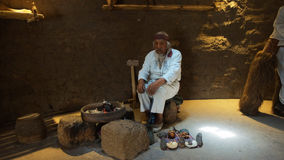 Старый шаман дома в разбивочном Ciudad Mitad del Mundo turistic близко города Кито Стоковые Изображения RF