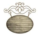Старый шильдик Стоковое Фото