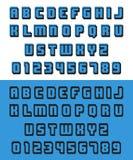 Старый шрифт видеоигры Стоковое Изображение