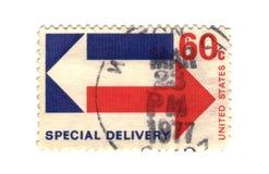 старый штемпель почтоваи оплата США стоковое изображение
