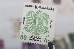 Старый штемпель Египта стоковое фото