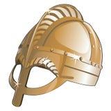 Старый шлем металла от Спарты вектор иллюстрация штока