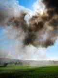 Старый дым пар-локомотива стоковое изображение