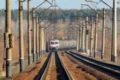Старый электрический пригородный поезд, Украина Стоковые Изображения RF