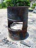 Старый ящик масла Стоковые Фото