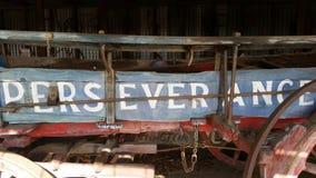 Старый buckboard, Австралия стоковые изображения