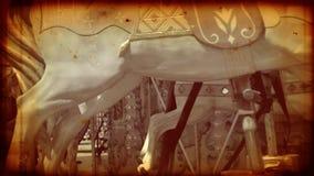 Старый carousel с винтажным взглядом сток-видео