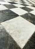 Старый checkered конец пола вверх Стоковое Изображение RF