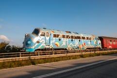 Старый Danish МОЙ тепловозный винтажный локомотив Стоковые Изображения RF