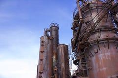 старый gasworks Стоковая Фотография RF