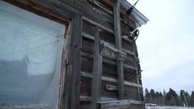 Старый grunge полинянный в русской деревне видеоматериал