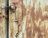 Старый grunge треснул краску на текстуре стены металла Стоковые Изображения RF