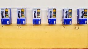 старый id звонящего по телефону стоковое изображение