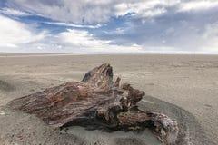 Старый logon песок и голубое небо Стоковое Изображение