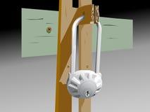 старый padlock Стоковое Изображение RF