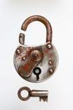 старый padlock стоковые изображения