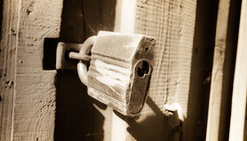 Старый padlock Стоковое фото RF