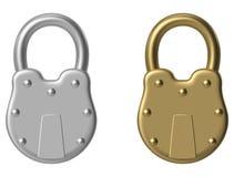старый padlock Стоковое Фото