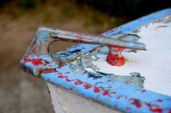 Старый powerboat Совета 1960s взгляд мотора озера шлюпки baikal панорамный Стоковые Изображения RF