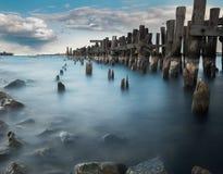 Старый Prescott пристани, Онтарио, Канада Стоковые Фотографии RF