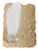 старый quill пергамента Стоковая Фотография RF