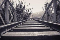 старый railway Стоковые Изображения